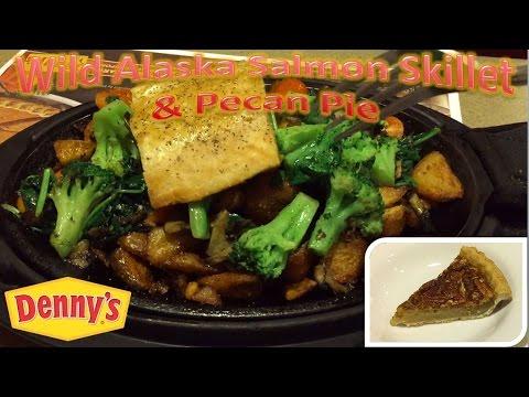 denny s wild alaska salmon skillet pecan pie youtube