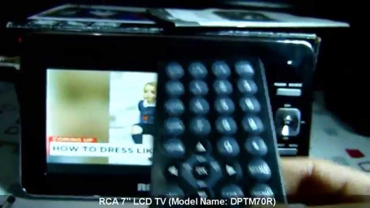 RCA 7-Inch Portable LCD TV | DPTM70R - YouTube