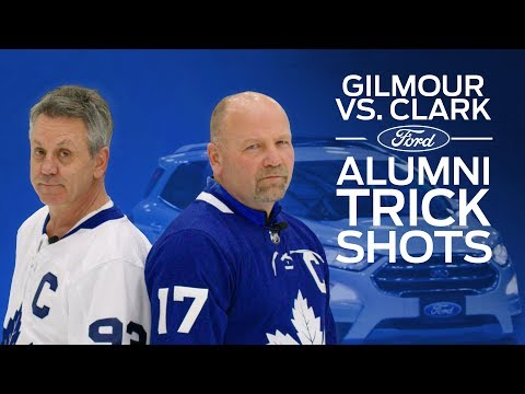Doug Gilmour vs Wendel Clark: Ford Trick Shots Challenge