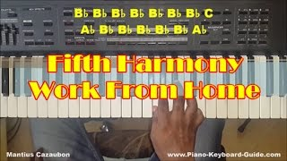 Fifth Harmony Work From Home Easy Piano Tutorial - How To Play