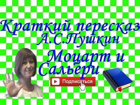 """Краткий пересказ А.Пушкин """"Моцарт и Сальери"""""""