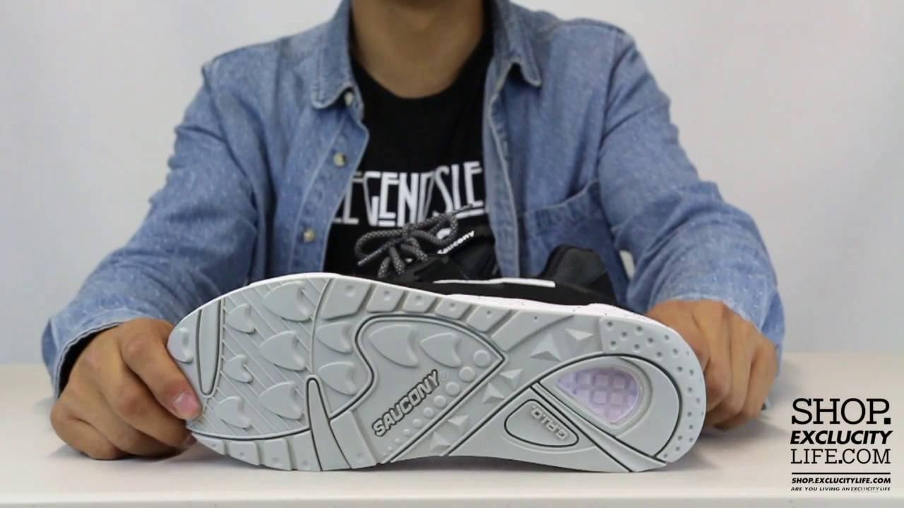 1653d993 Saucony Grid 9000 Black - White Unboxing Video at Exclucity - YouTube