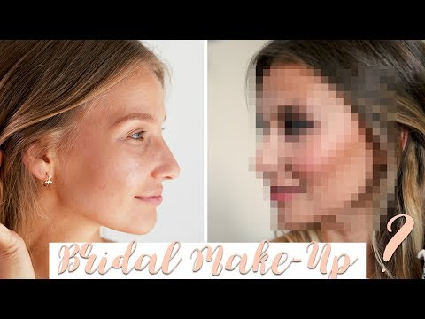ICH BEKOMME MEIN BRIDAL MAKEUP 👰🏼 | AnaJohnson