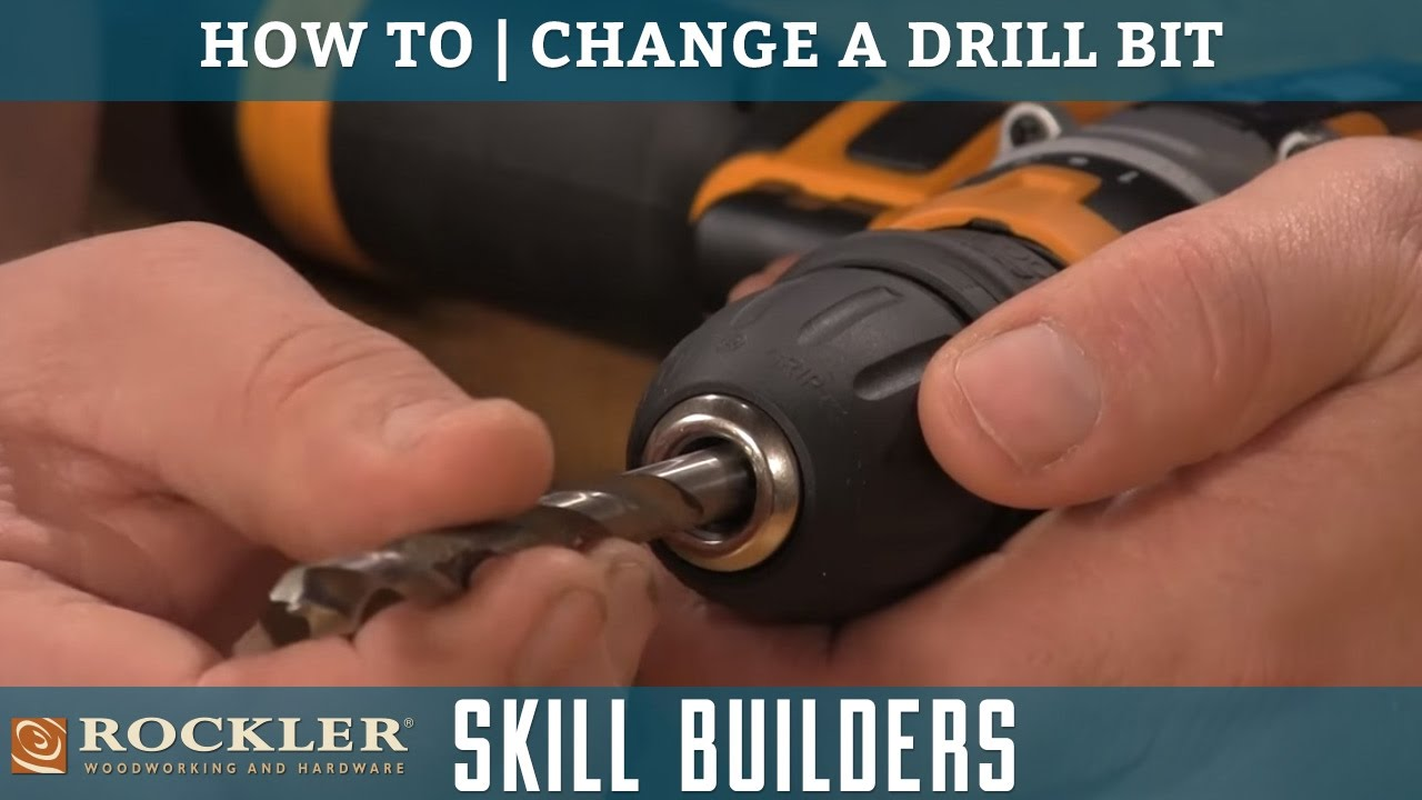 How To Change A Drill Bit Rockler Skill Builders You