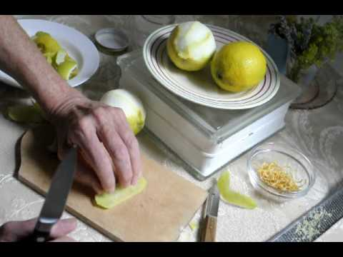 all about lemon zest and peel - from la Cucina di TerrESa