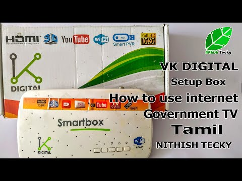 How To Use Internet In Government TV | VK Digital Setup Box | NITHISH TECKY