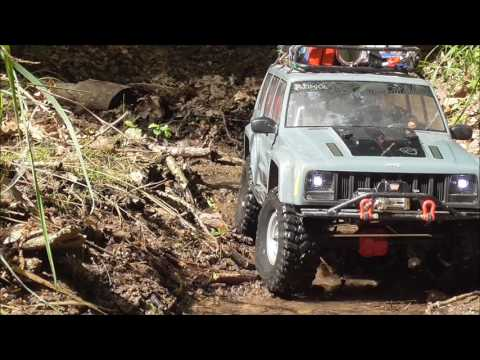 SCX10XJ Clairmarais forest river run