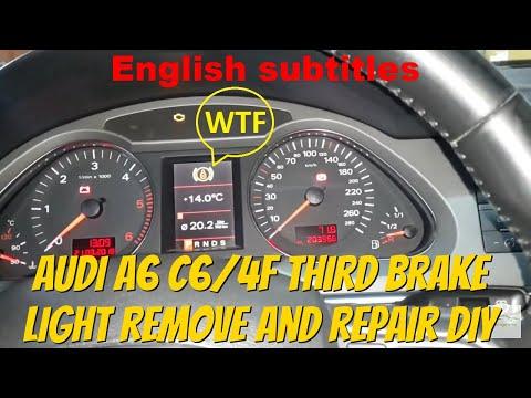 Audi A6 C6/4F third brake light remove and repair DIY How to Как да си поправите 3-я стоп Ауди а6 4ф