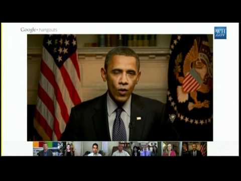 US President Barack Obama's Google Plus Video Chat 'hangout'