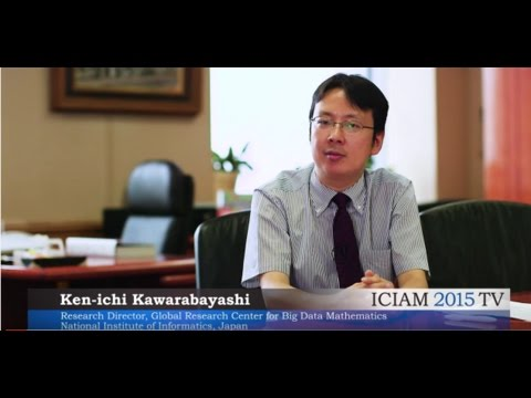 ICIAM TV 2015 Global Research Center for Big Data Mathematics, NII, Japan