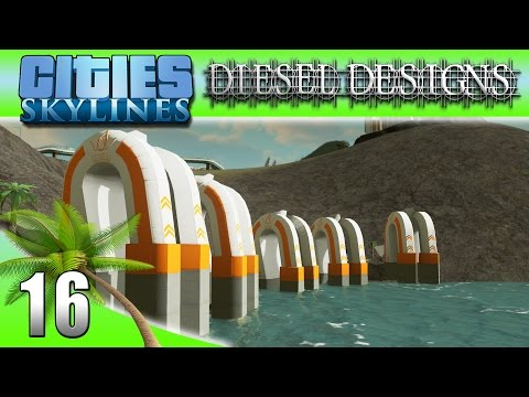 Cities: Skylines: EP16: New Water Pumps & No More Sewage! (City Building Series 60FPS)