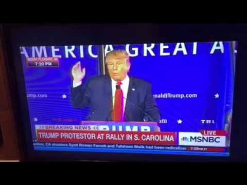 Donald Trump Speech Heckled By Protestor In South Carolina