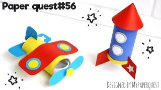 Ракета из втулки и картона  [Поделки для детей] Поделка Самолет | Rocket DIY Craft