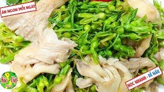 ✅ Hết Lời Khen Với Món Nấm Bào Ngư Hoa Thiên Lý Đơn Giản Này   Hồn Việt Food