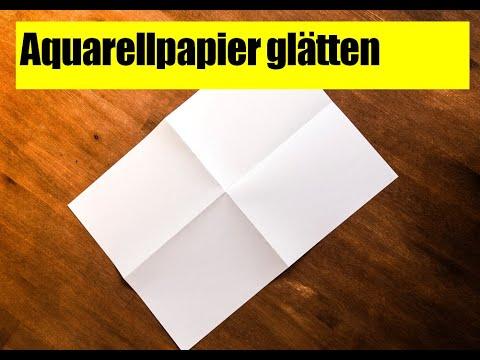 Malen Mit Aquarell Welliges Papier Einfach Glatten Youtube