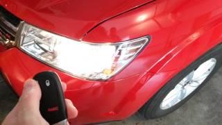 2013 Dodge Journey - Testing New Key Fob Battery - Parking Lights Flashing