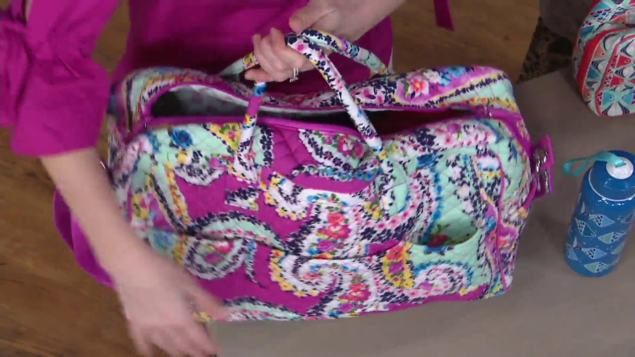 Vera Bradley Signature Iconic Weekender Travel Bag On Qvc