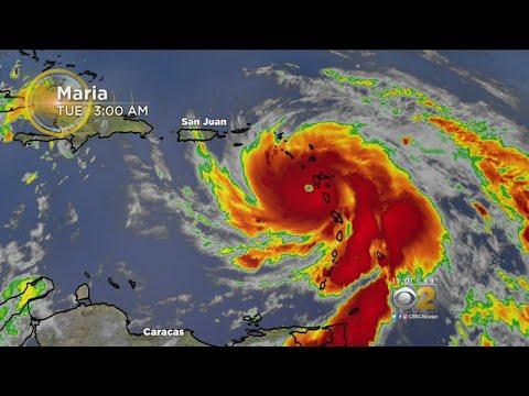 Hurricane Maria Pounds East Caribbean, Churns Toward Puerto Rico