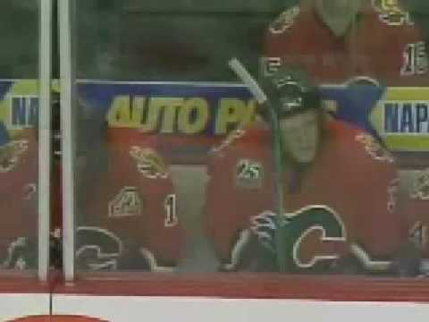Rutu trips Phaneuf  ( this is the way all flames should fall)