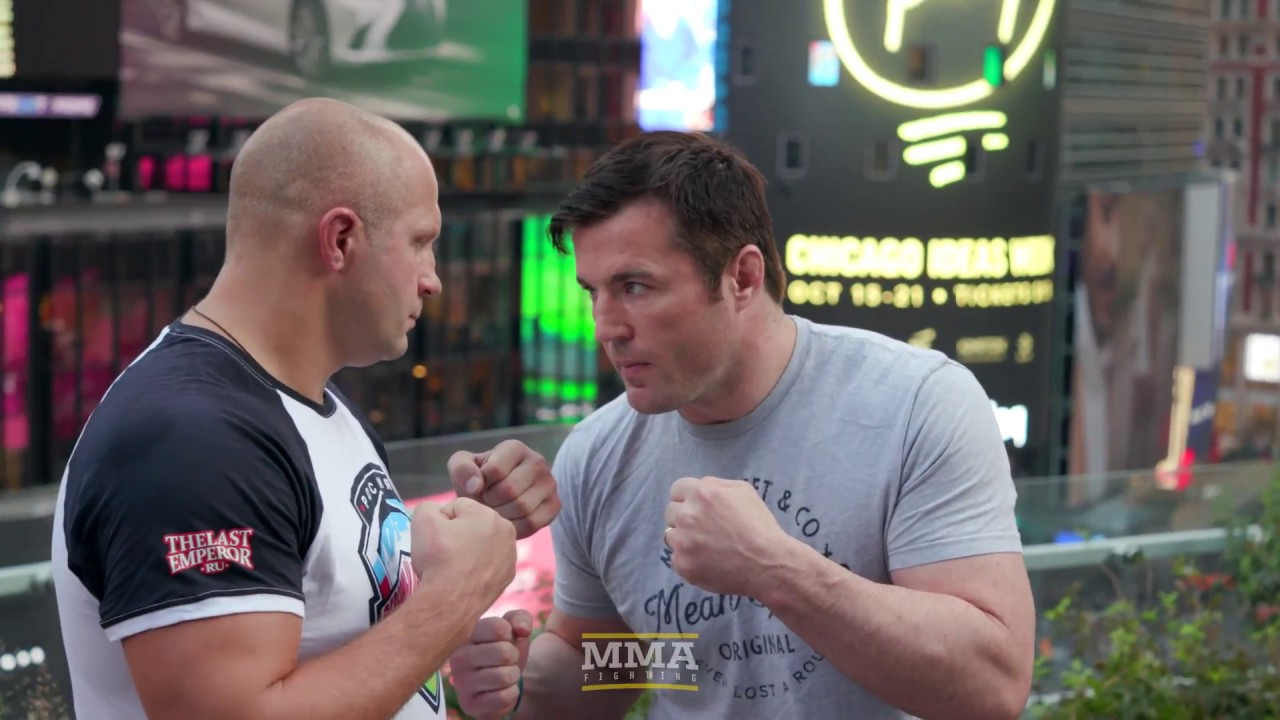 Fedor Emelianenko vs. Chael Sonnen Workout Staredown - MMA Fighting
