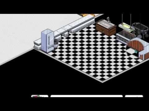 Tutorial habbo como construir una casa parte 3 cocina for Como hacer una casa en habbo