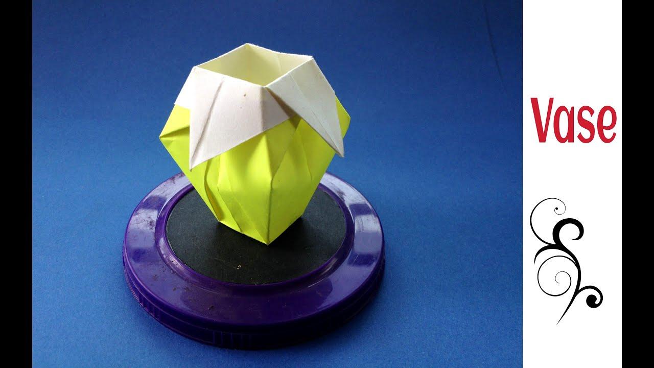 Origami Paper Vase3D