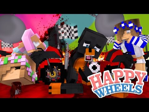 Minecraft HAPPY WHEELS - LITTLE KELLYS CASTLE TURNS INTO CRAZY HAPPY WHEELS - Donut the Dog Gaming