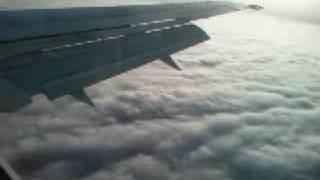Atlas Blue 737 Landing in Casablanca fog الخطوط الملكية المغربية