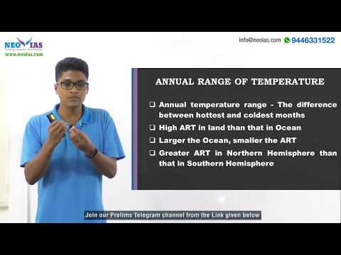 ANNUAL RANGE OF TEMPERATURE | PRELIMS IMPORTANT MODEL QUESTION SOLVED | GEOGRAPHY | NEO IAS