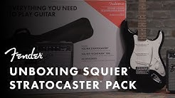 Unboxing The Squier Stratocaster Pack | Fender