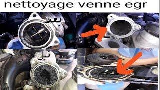 nettoyage vanne EGR et collecteur d'admission golf 4 TDI  egr و مآخد السحب للكولف 4 تنظيف صمام