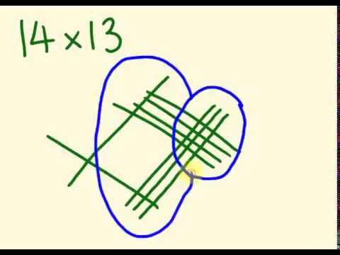 การคำนวนวิธีการคูณ ด้วยลายเส้น   http://youtu.be/z9l270TWcdk