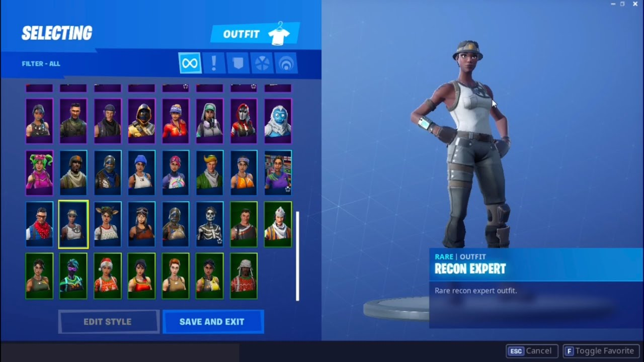 most rare stacked fortnite account renegade raider recon expert aerial assault trooper etc - fortnite account renegade raider stacked