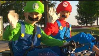 Razor Ground Force Drifter Fury Go-Karts!  Mario Kart Racing! | Gabe and Garrett