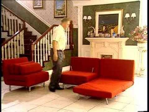Stella Red Convertible Sofa Chair Set