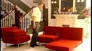 Stella Red Convertible Sofa Chair Set