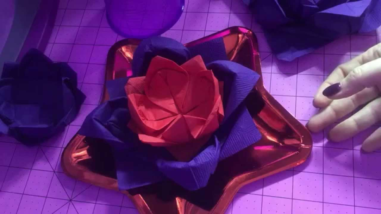 Napkin fold flower easy origami lotus fold youtube napkin fold flower easy origami lotus fold mightylinksfo Image collections