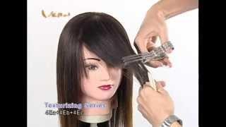 How To Trim Your Bangs-Cut by Vern Texturizing(thinning) Scissors? 如何修剪出完美自然的瀏海?