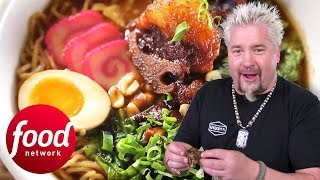 Guy Tries A Mix Of Udon And Ramen With Hawaiian Flavours | Diners, Drive-Ins & Dives