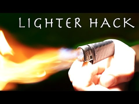 Mini Lighter With a MASSIVE FLAME!?!? - Simple Lighter Hack INSANE RESULTS!!!