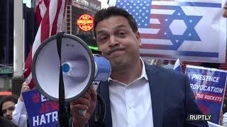 Jewish Community rally in NYC's Times Square to Support Israel amid Tensions with Palestine