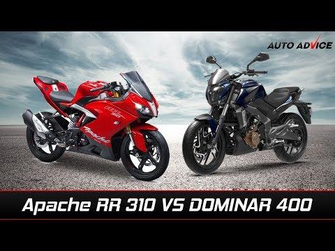 Tvs Apache RR 310 Vs Bajaj Dominar 400 comparison