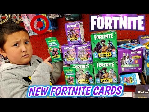 HUNTING FOR NEW FORTNITE BATTLE ROYALE TRADING CARDS AT TARGET!! HUGE BOOSTER BOX AND PACKS HAUL!