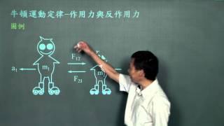 牛頓運動定律 - 作用力與反作用力