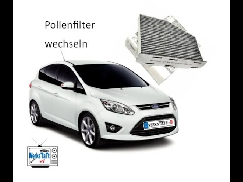 ford c max focus pollenfilter innenraumluftfilter wechseln replace cabin air filter youtube. Black Bedroom Furniture Sets. Home Design Ideas