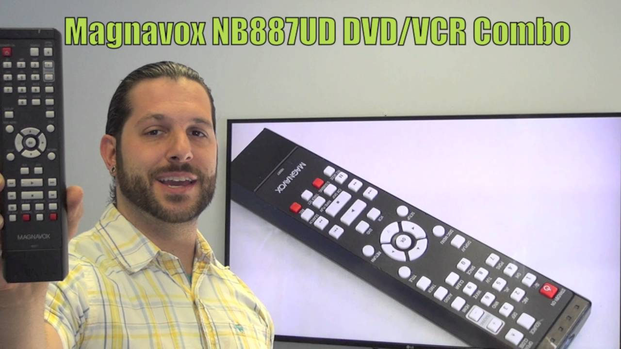 Magnavox NB887UD DVD/VCR Combo Player Remote Control -  www ReplacementRemotes com