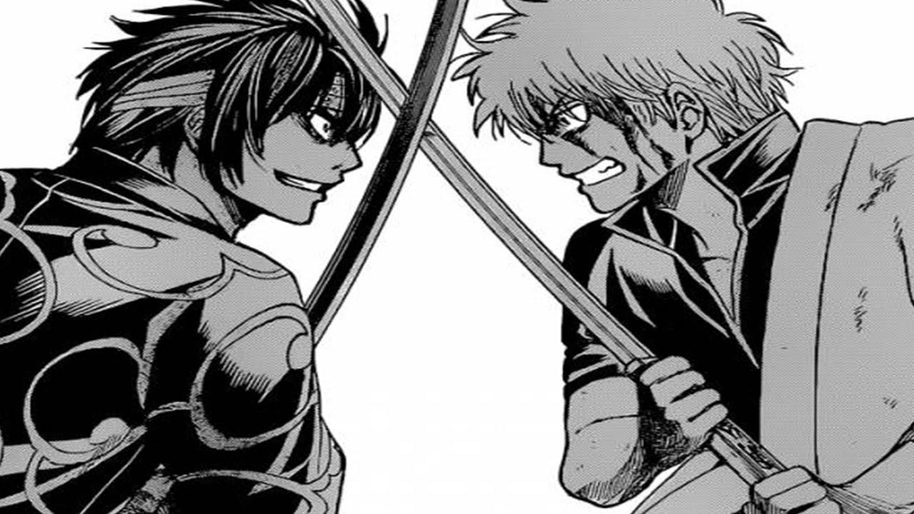 銀魂 Gintama Manga Chapter 516 銀魂 Reaction Gintoki Vs ...Gintama Gintoki Past Wallpaper
