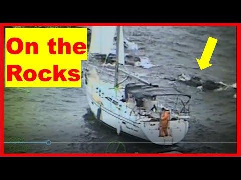 Sailboat Jayhawk Rescue On Lake Superior, Manitou Island