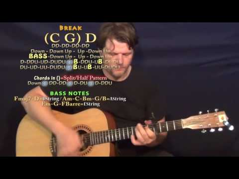 Middle of a Memory (Cole Swindell) Guitar Lesson Chord Chart - Capo 4th