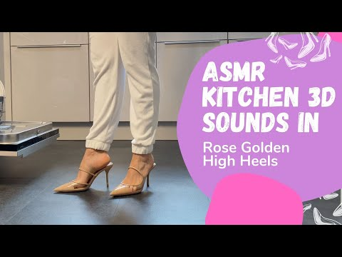 ASMR Kitchen Sounds | Mules High Heels | Tidy Up & Coffee by Lady Kim